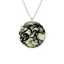 woodland Camo blk boar Necklace