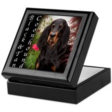 Black & Tan Coon Hound Keepsake Box