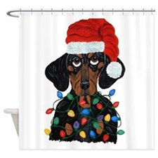 Dachshund Sanata Ta... Shower Curtain