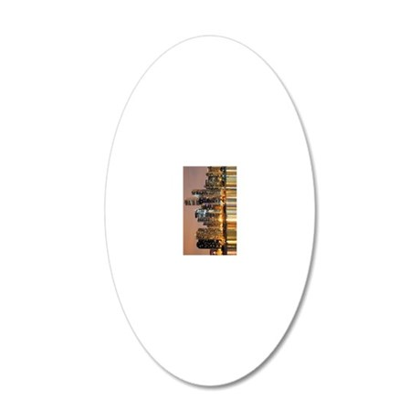 Chicago for iphone 20x12 Oval Wall Decal
