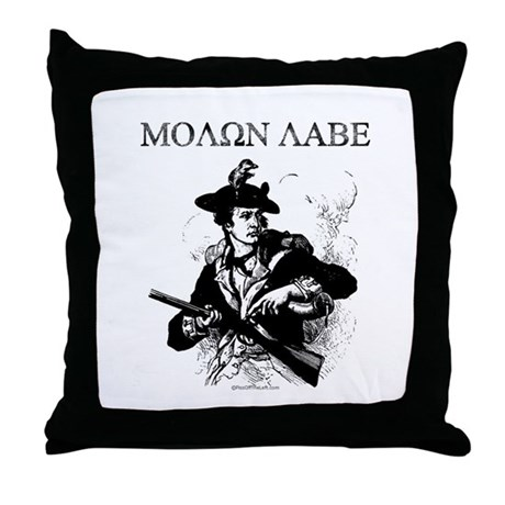 Molon Labe Minuteman Throw Pillow
