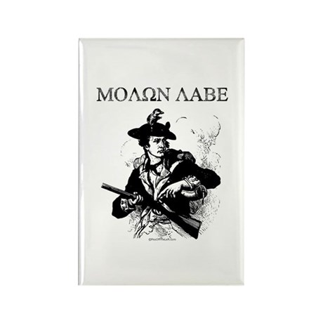 Molon Labe Minuteman Rectangle Magnet
