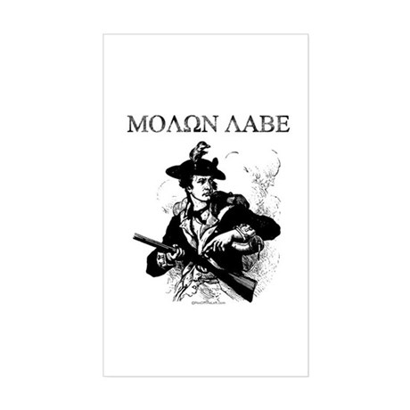 Molon Labe Minuteman Rectangle Sticker