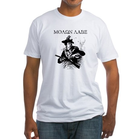 Molon Labe Minuteman Fitted T-Shirt