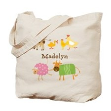 Customized Farm Animals Tote Bag