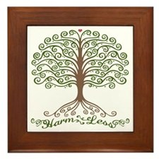 harm-less-tree-T Framed Tile