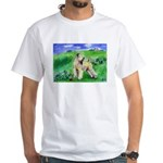 Wheaten in Country Field White T-Shirt