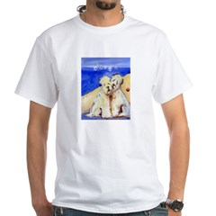 SOFT COATED WHEATEN TERRIER Beach White T-Shirt