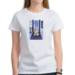 Wheaten waits at door Women's T-Shirt