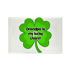 Grandpa is My Lucky Charm Rectangle Magnet