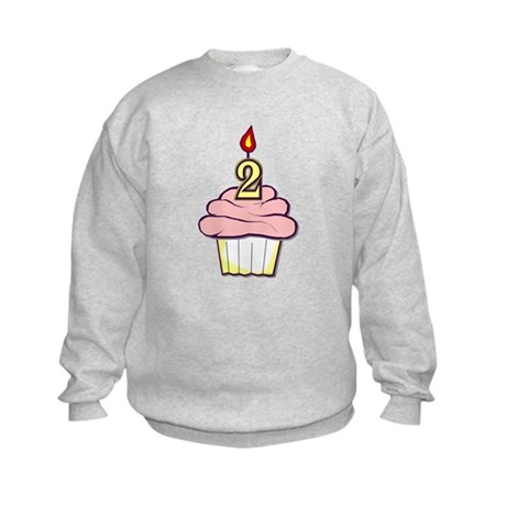 2nd Birthday Cupcake (girl) Kids Sweatshirt