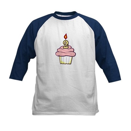 2nd Birthday Cupcake (girl) Kids Baseball Jersey