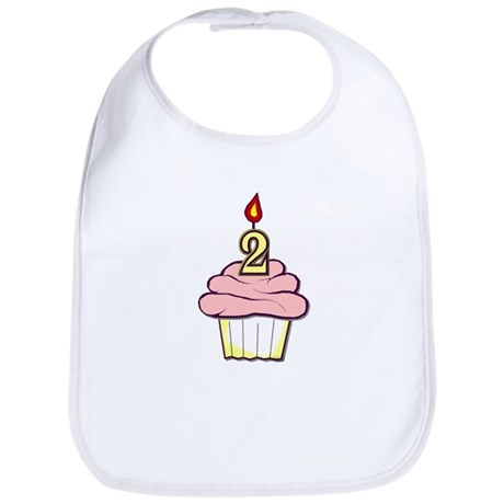 2nd Birthday Cupcake (girl) Bib