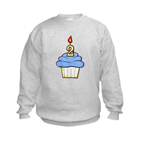 2nd Birthday Cupcake (boy) Kids Sweatshirt