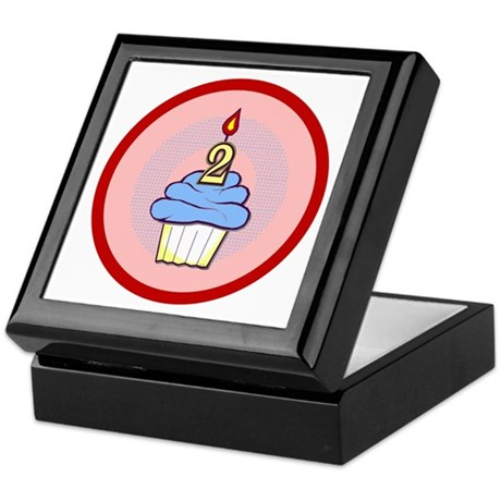 2nd Birthday Cupcake (boy) Keepsake Box