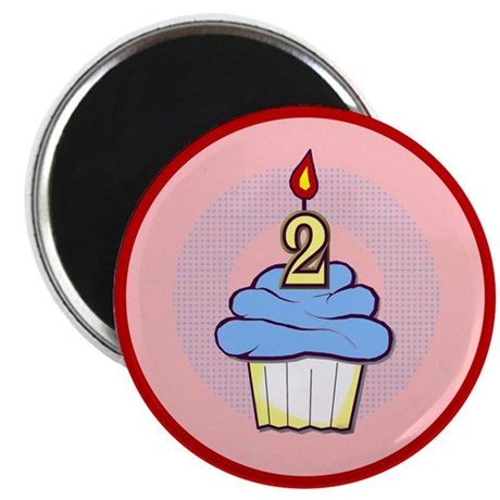 "2nd Birthday Cupcake (boy) 2.25"" Magnet (100 pack)"
