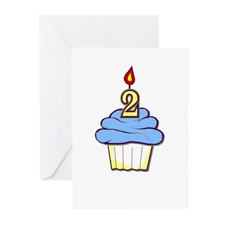 2nd Birthday Cupcake (boy) memory cards (10)