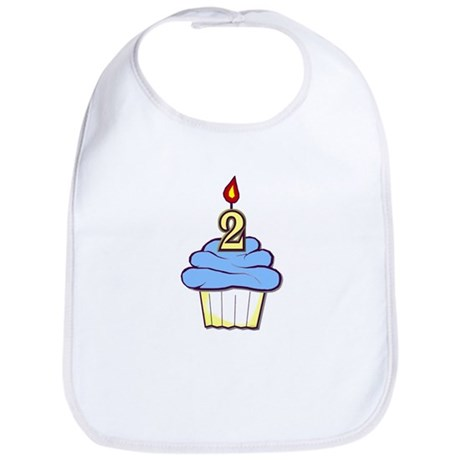 2nd Birthday Cupcake (boy) Bib