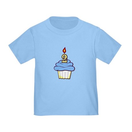 2nd Birthday Cupcake (boy) Toddler T-Shirt