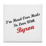 In Love with Byron Tile Coaster