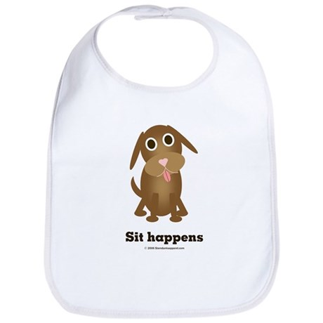 Sit happens Bib