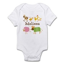 Customized Farm Animals Onesie