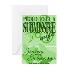 Submissive_wife_lime_full_bleed Greeting Card