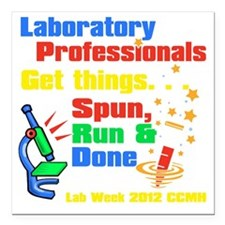 "labweek2012 Square Car Magnet 3"" x 3"""