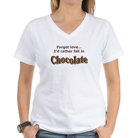 Chocolate lover Women's V-Neck T-Shirt