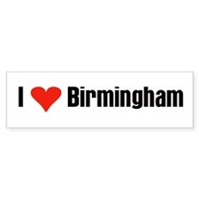 I Love Birmingham Bumper Car Sticker