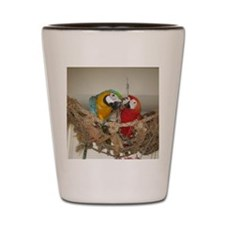 1850x1600 scarlet and blue and gold Shot Glass