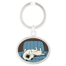 nonsportingnook Oval Keychain