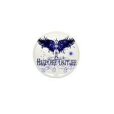 BRIGHT BLUE ISH PURPLE WINGS WITH CROS Mini Button