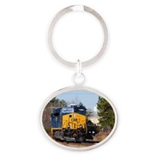 CSX Train 1 Oval Keychain