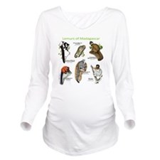 Lemurs of Madagascar Long Sleeve Maternity T-Shirt