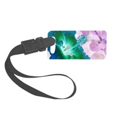 Glowing Hibiscus Luggage Tag