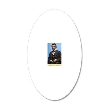 23X35 Abe Lincoln Color Prin 20x12 Oval Wall Decal