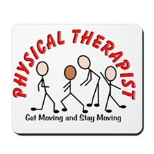 physical therapist 2 get moving red Mousepad