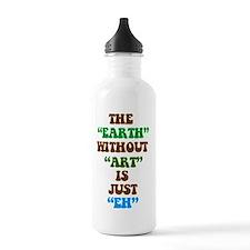 EARTHWITHOUTART3 Water Bottle
