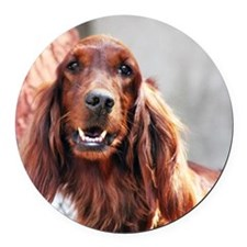 Irish Setter Dog Round Car Magnet
