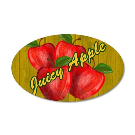 JUICY-APPLE-WOODGRAIN-PILLOW 35x21 Oval Wall Decal