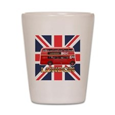 London Bus Shot Glass