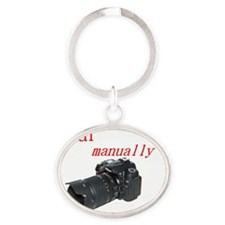 photogs manually nikon dark Oval Keychain
