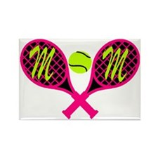 Mom Tennis Rectangle Magnet