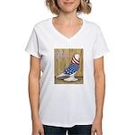 Patriotic West Women's V-Neck T-Shirt