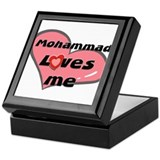 mohammad loves me Keepsake Box