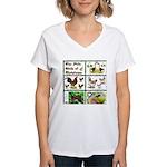 Christmas Birds Women's V-Neck T-Shirt