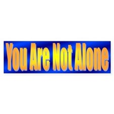 You Are Not Alone Bumper Sticker Blue/Gold