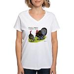 Turkey Day Women's V-Neck T-Shirt
