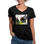Turkey Day Women's V-Neck Dark T-Shirt